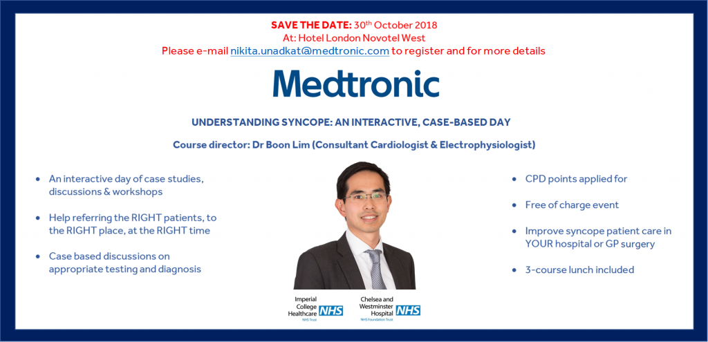 Understanding syncope: an educational event in London for health care professionals